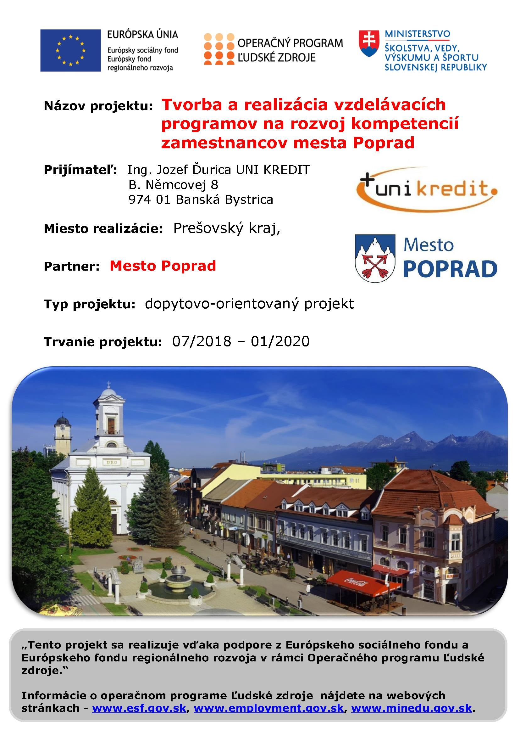 Plagát Poprad