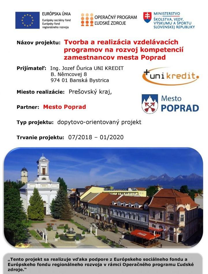 Rozvíjanie kompetencií zamestnancov mesta Poprad